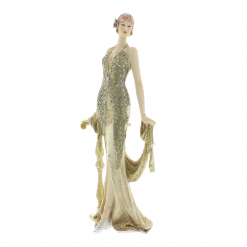 Juliana Broadway Belles Art Deco Lady Figurine Cream and Gold 'Lucia' 58431